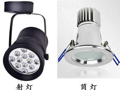 LED筒灯和LED射灯有何不同?性能功能有什么差别